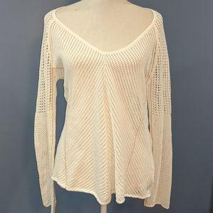 🍍Kerisma White Hole Sweater size Medium